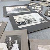 old photos on a table