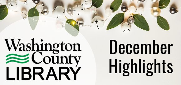 banner with logo and December Highlights text