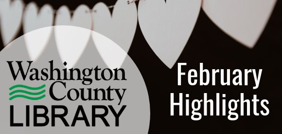 banner with logo and February Highlights text