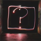 question mark in neon lights