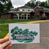 wildwood library letterpress print