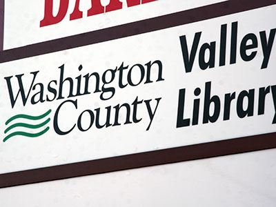 Valley Library sign