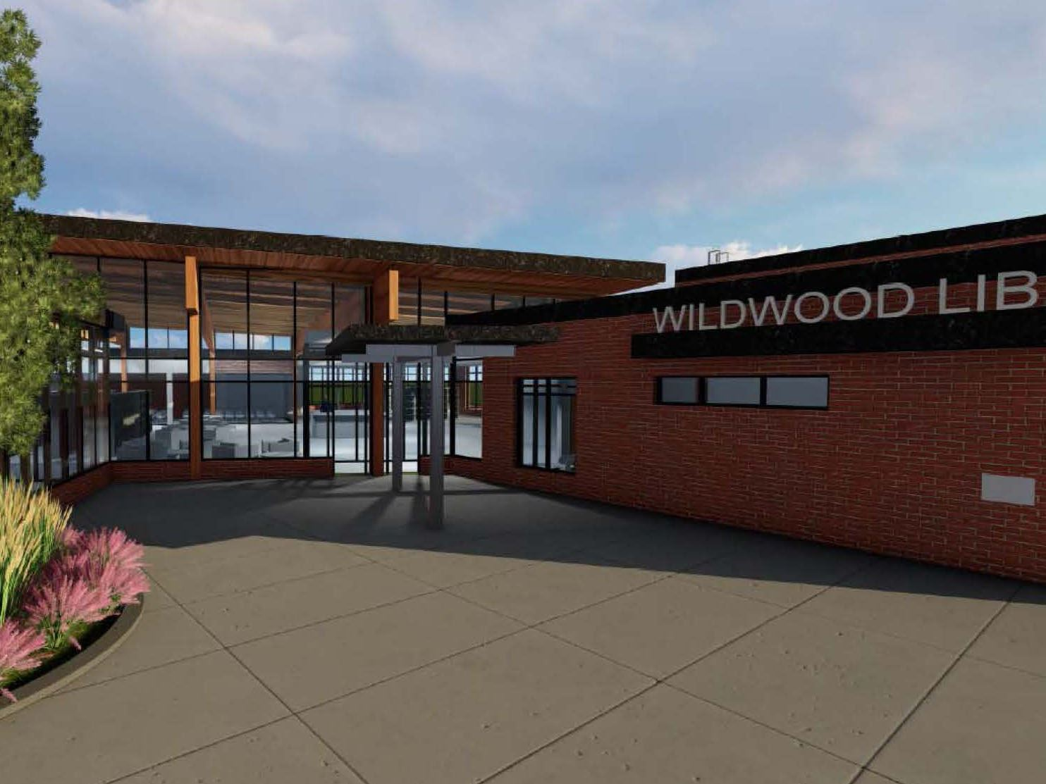 Artist image of new Wildwood Library