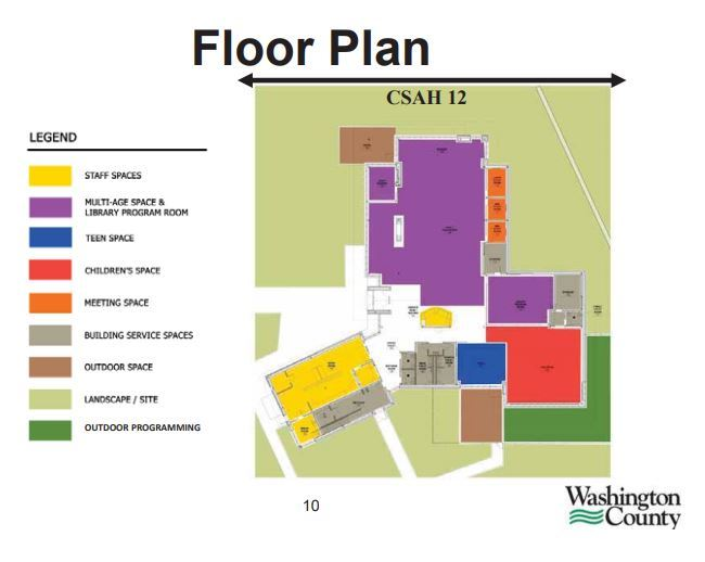 proposed floor plan for Wildwood Library