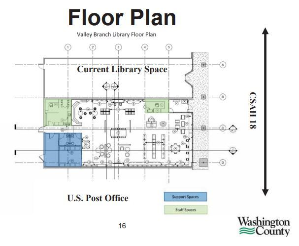 proposed floor plan for Valley Library