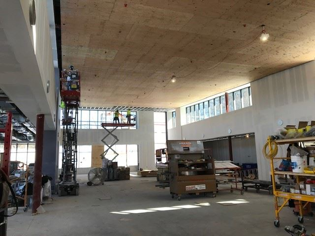 construction inside wildwood library