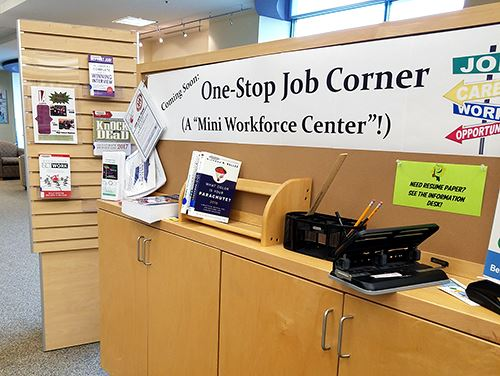 Job Corner at R.H. Stafford Library
