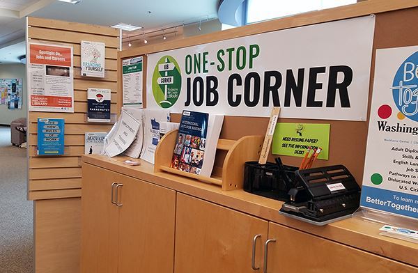 Job Corner at R.H. Stafford Library in Woodbury