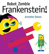 book cover for robot zombie frankenstein